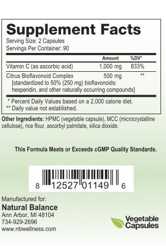 HPA BIOFLAV-C 180 CT (NUMEDICA) (7oz)