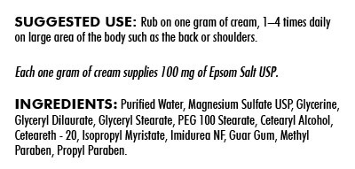 Biomed MAGNESIUM SULFATE CREAM 4oz (KIRKMAN)