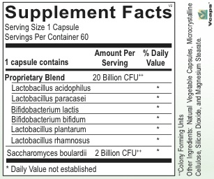 Gastrointestinal Support PROBIOTIC BALANCE XR 60CT (ORTHO MOLECULAR) (2oz)