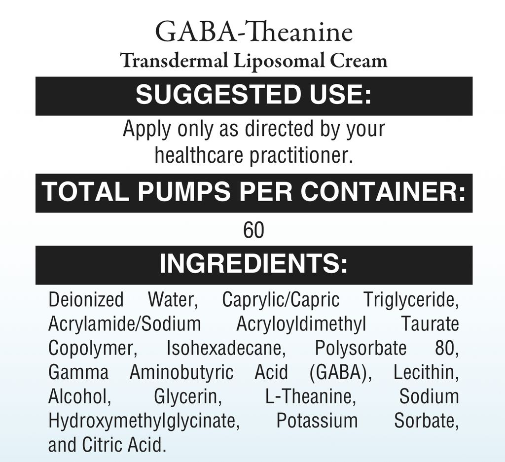 Mood GABA-THEANINE CREAM 1.8oz (XYMOGEN)