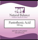 HPA PANTOTHENIC ACID 100CT (Douglas) (Same instructions as PUREs Pantothenic Acid) (500 mg)