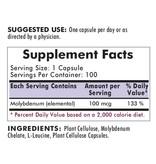 Biomed MOLYBDENUM 100 CAPS (KIRKMAN) (100ct)