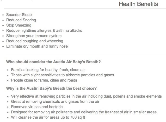 AUSTIN-AIR Austin Air-Allergy Health (Junior Unit)