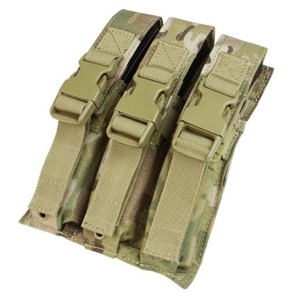 Condor Condor MP5 Triple Mag Pouch- Multicam