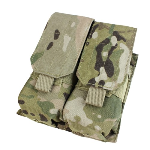 Condor Condor Double M4 Mag Pouch-Covered- Multicam