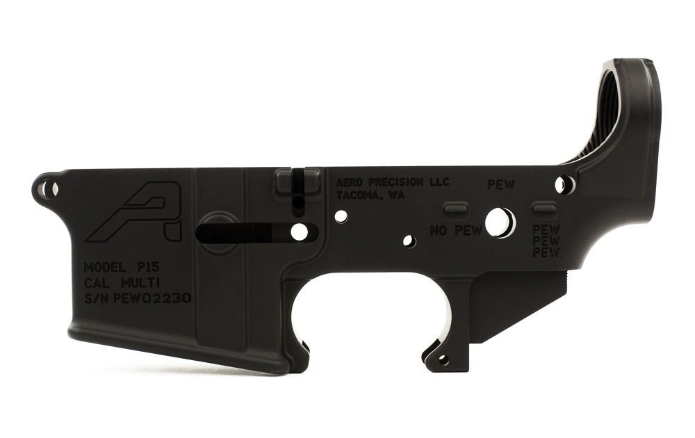 Aero AR15 Stripped Lower Receiver, Special Edition: PEW, Aero Precision