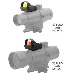 Newcon BURD (Back Up Red Dot sight) for NC4x32 / NC6x50