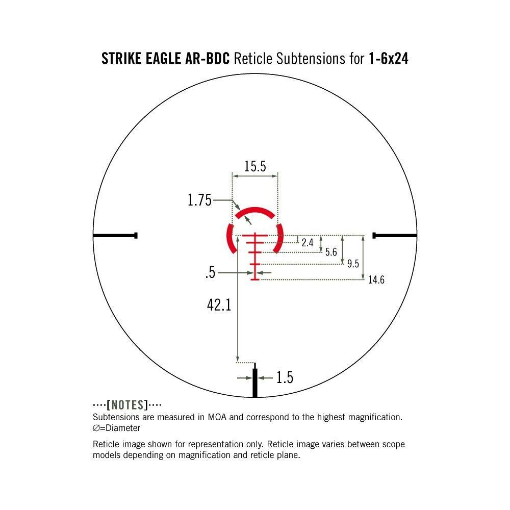 Vortex Strike Eagle 1-6x24 AR-BDC