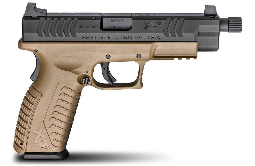 "Springfield Armory Springfield XDM 9mm 4.5""FDE Threaded Barrel"