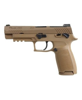 "SIG USA Sig Sauer P320 M17, 9MM, 4.7"" BBL, Coyote, Striker Fire, Siglite NS, Manual Saftey 3-10 rd, NS Plate"
