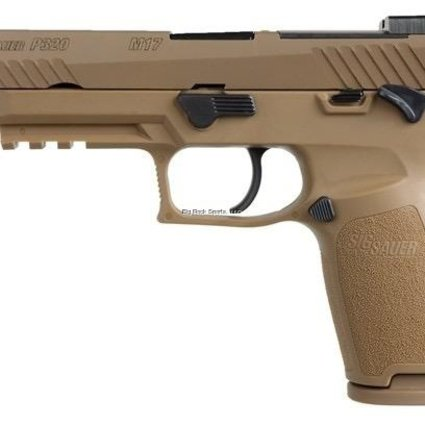 "SIG USA Sig Sauer P320 M17, 9MM, 4.7"" BBL, Coyote, Striker Fire, Siglite NS, Manual Saftey 3-10 rd, NS Plate"