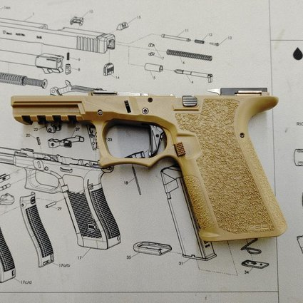 Poly80 PFC9 Serialized Compact Frame - FDE, Full Assembly, LPK installed