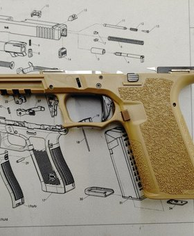 Poly80 PFS9 Serialized Standard Frame - FDE, Fully Assembled,  LPK installed