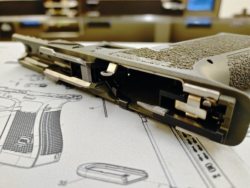 Poly80 PFS9 Serialized Standard Frame - ODG, Fully Assembled,  LPK installed
