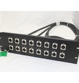 Crown CROWNPANEL-1 1U patch panel with 1 Powercon and 1 female XLR jack.<br /> CROWNPANEL-1 1U patch panel with 1 Powercon and 1 female XLR jack.