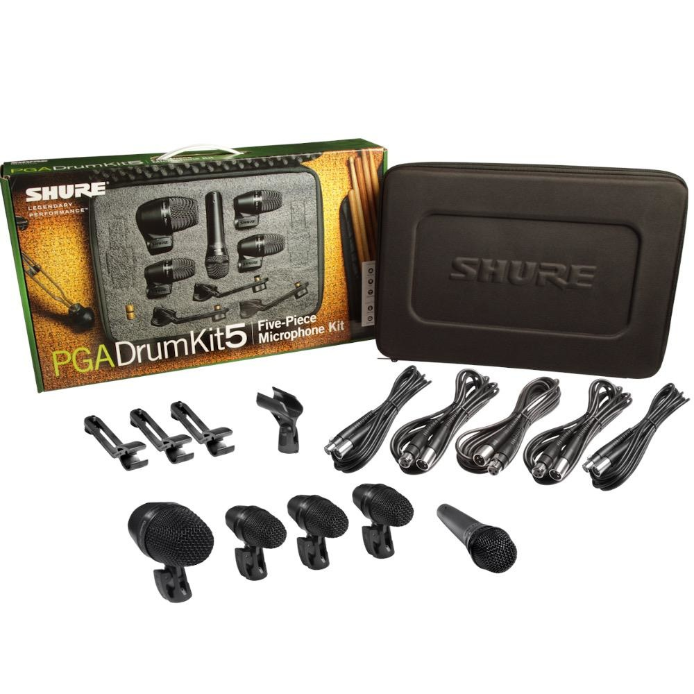 Shure Shure PGADRUMKIT5 5-Piece Drum Microphone Kit
