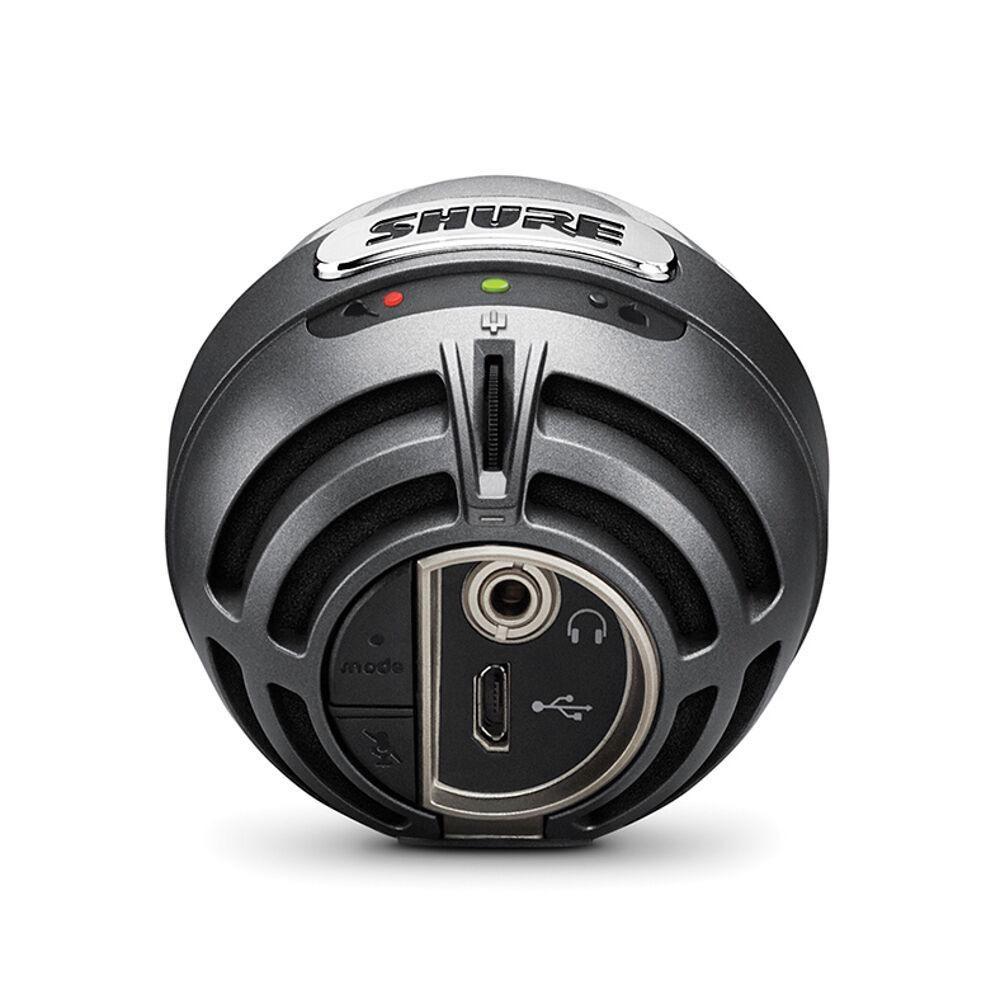Shure Shure MV5/A-LTG  MV5 Digital Condenser Microphone (Gray) + USB & Lightning Cable