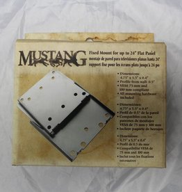"Mustang MV-STAT1 Fixed mount for up to 24"" flat panel display."