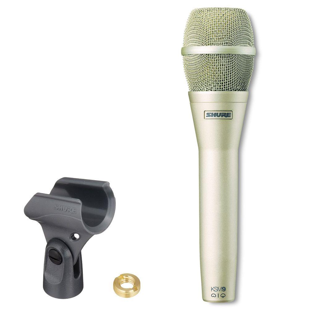 Shure Shure KSM9/SL Dual-Pattern Vocal Microphone - Champagne
