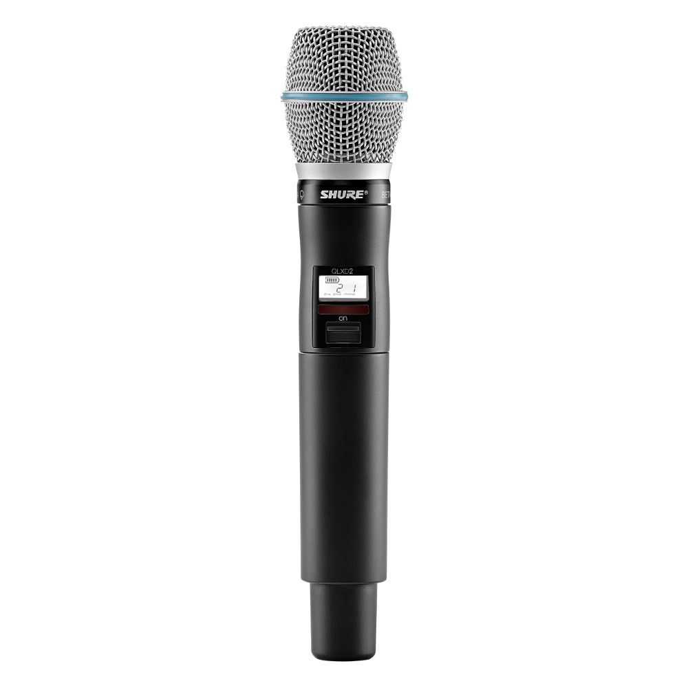 Shure Shure QLXD2/BETA87A Handheld Wireless Microphone Transmitter