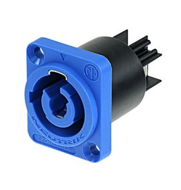 Neutrik Neutrik NAC3MPA-1 powerCON Chassis Connector, Blue
