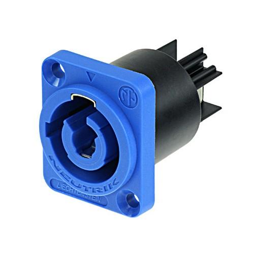 Neutrik Neutrik NAC3MPA-1 powerCON Chassis Connector, Blue