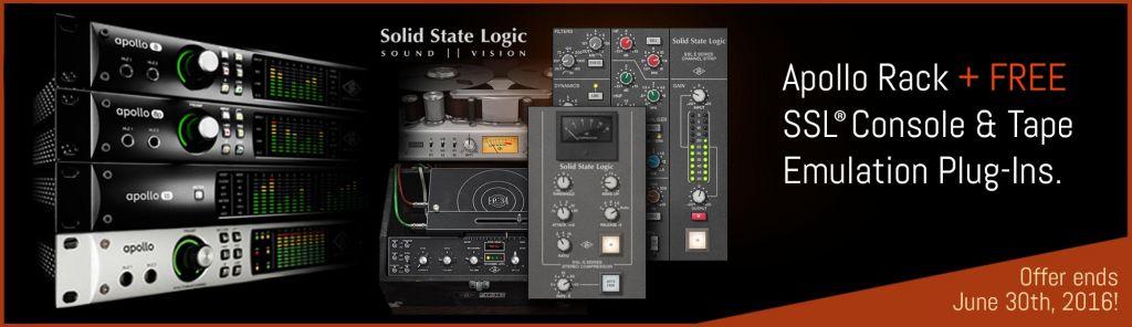 Apollo Rack + Free SSL® Console & Tape Emulation Plug-ins