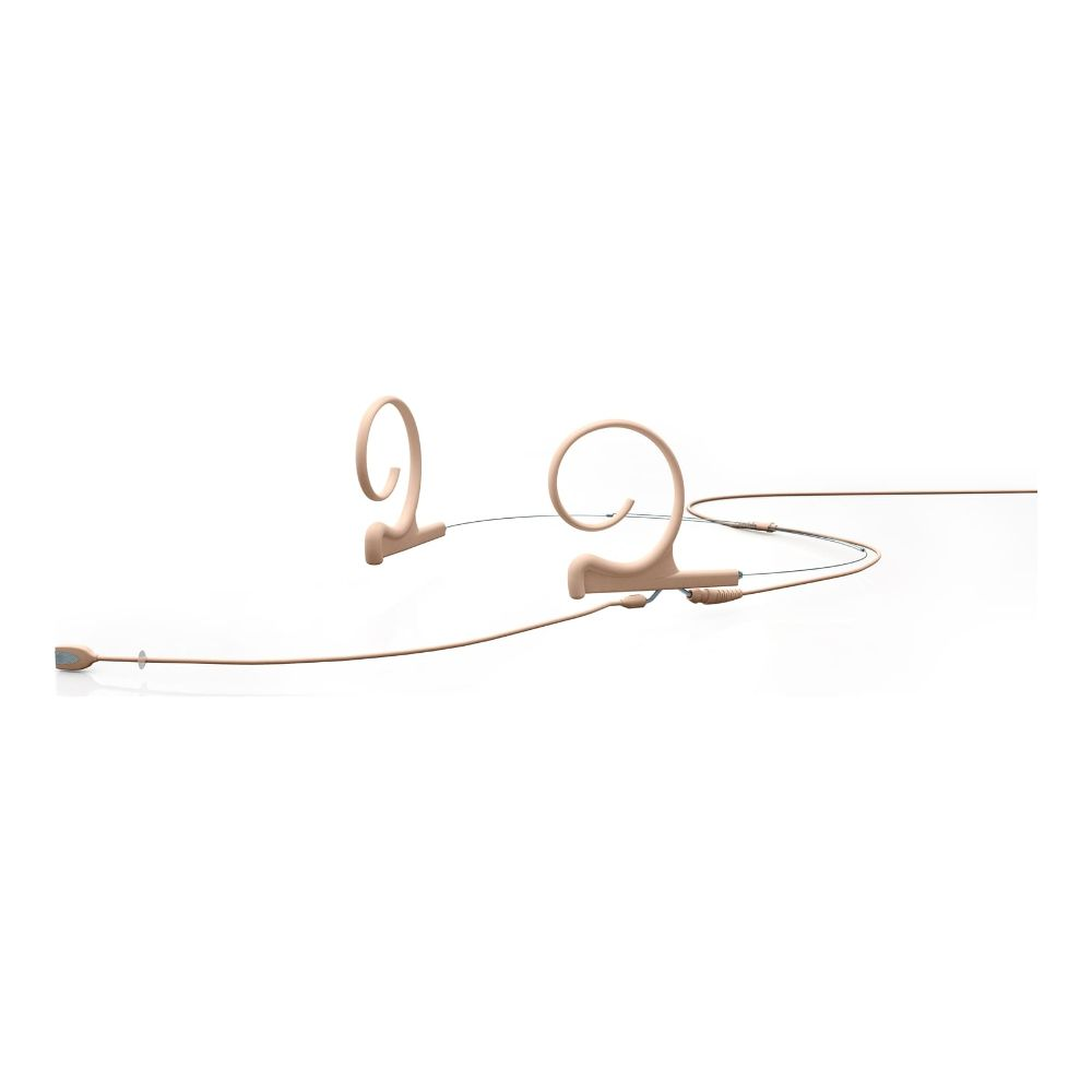 DPA Directional Headset, Beige, Long 120 mm, Dual Ear, Hardwired 3.5 mm Locking Ring for Senn.