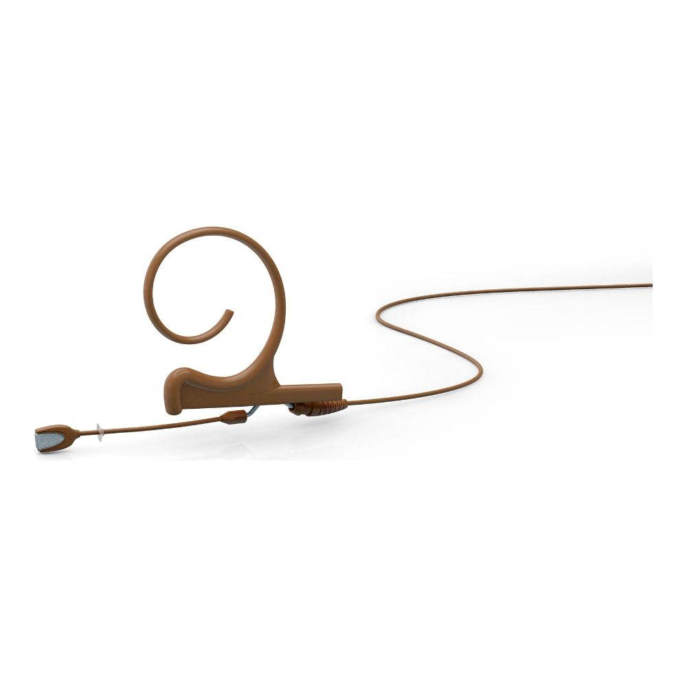 DPA Omnidirectional Headset, Brown, Short 40 mm, Single Ear, Microdot (Adaptor Required)