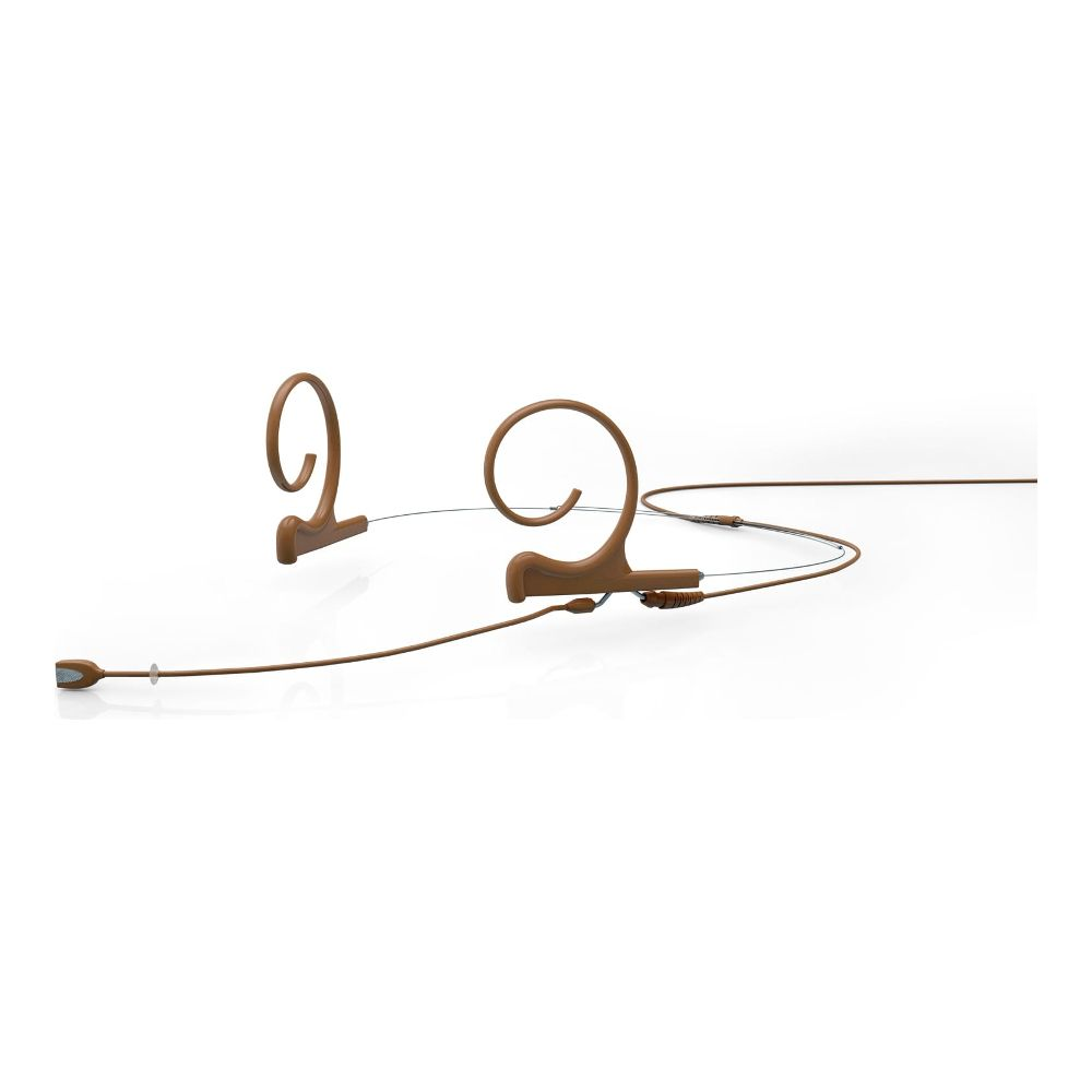 DPA Omnidirectional Headset, Brown, Medium 90 mm, Dual Ear, Microdot (Adaptor Required)