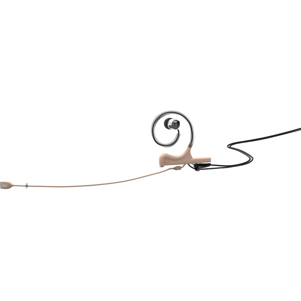 DPA In-Ear Broadcast Headset, Beige, 120mm Directional Boom, Microdot, Single- Ear, Single In-Ear
