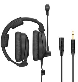 "Sennheiser Sennheiser HMD 300 XQ-2 Broadcast  with ultra-linear headphone response (dual-sided, 64 ohm), dynamic hyper-cardioid microphone and modular cable with XLR and 1/4"" jack."