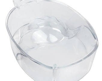 Stackable Manicure Bowl, White P.P Aceton Proof
