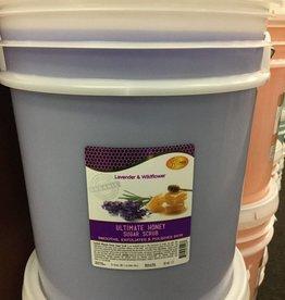 Spa Redi Organic Honey Sugar Scrub Lavender & Wildflower 5 Gallon Bucket