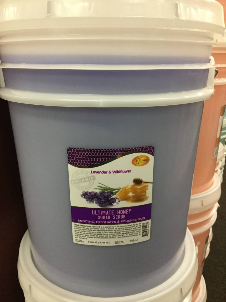 Spa Redi Organic Honey Sugar Scrub Lavender & Wildflower 5 Gallon Bucket