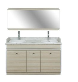 """Double Sink With Faucets - 55"""" (517)"""