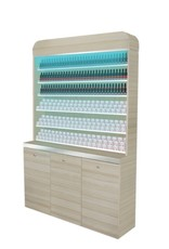 "Polish & Powder Rack With Gel Color & Powder Cabinet - 48"" (517)"