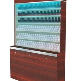 "Polish & Powder Rack With Gel Color & Powder Cabinet - 48"" (90)"