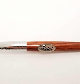 #8 Petal Red Wood Handle Nail Brush