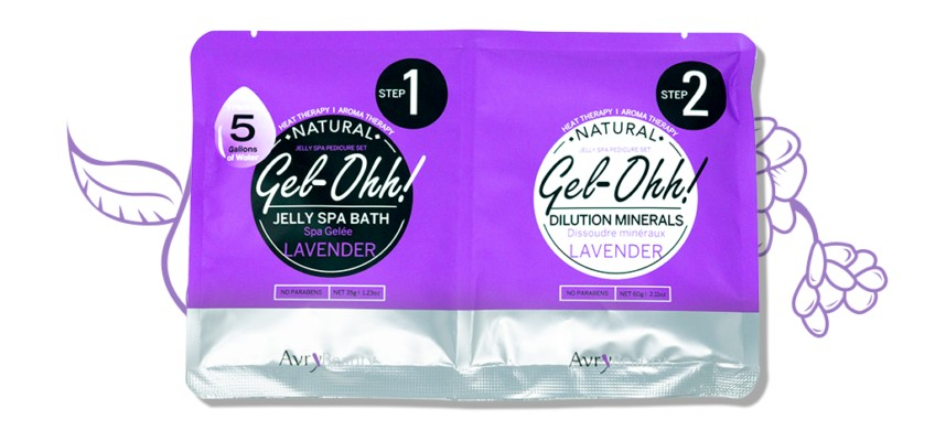 * Gel-Ohh Jelly Spa Pedi Bath Case (30 Set)