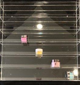 Clear 2oz Acrylic Wall Rack Clear (126) Hold 70 Jars