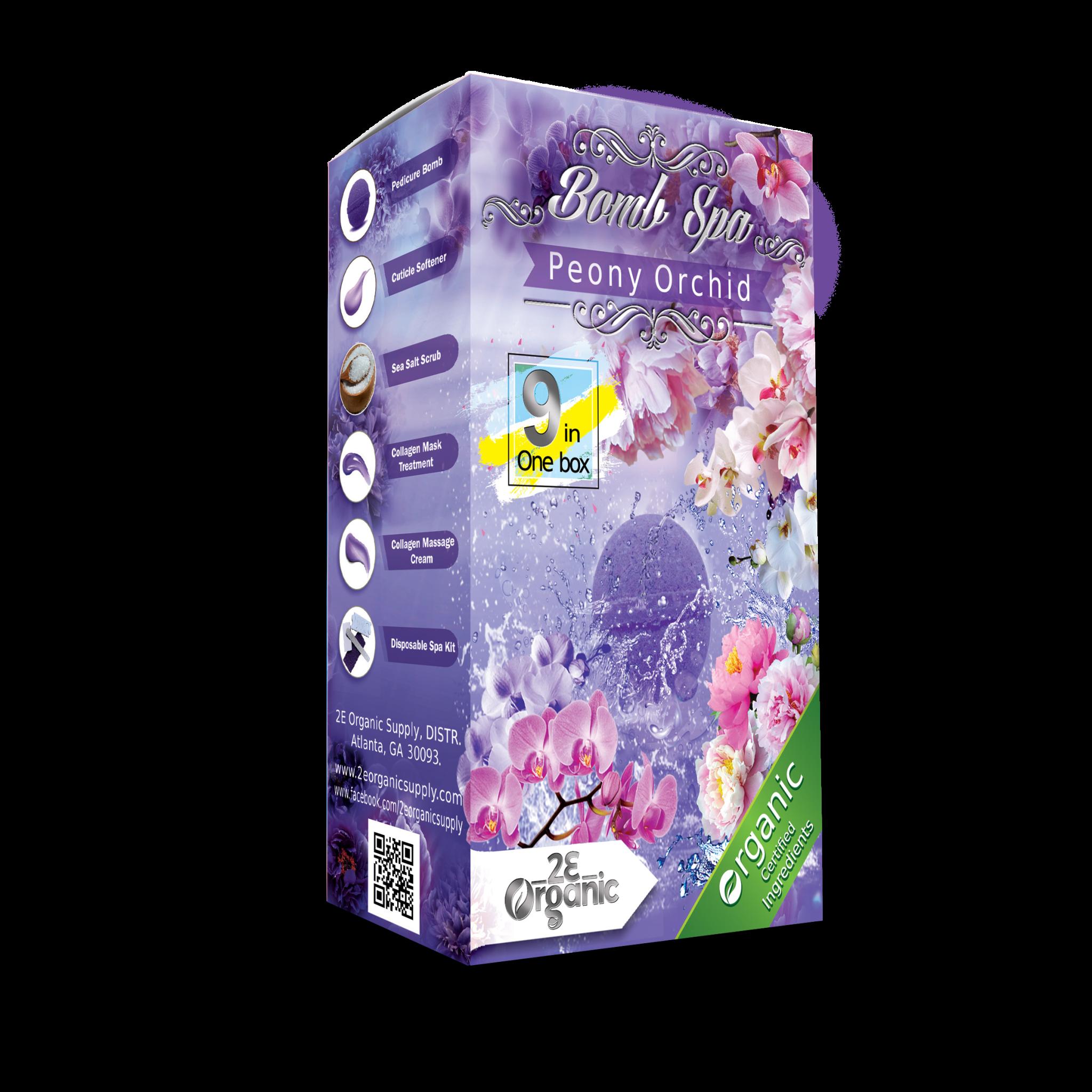 2E Organic 9 in 1 Bomb Spa Peony Orchid Single
