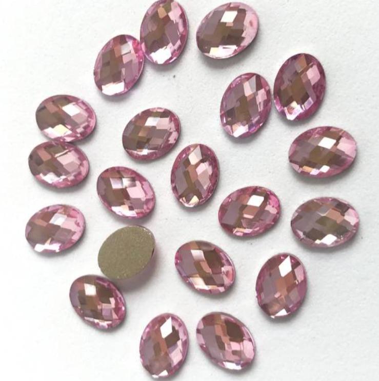 BK Pink  Oval (6x8) 517