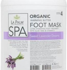 La Palm Organic Foot Mask Gallon Sweet Lavender Single
