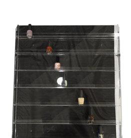 Clear Wall Polish Rack Display Hold 184