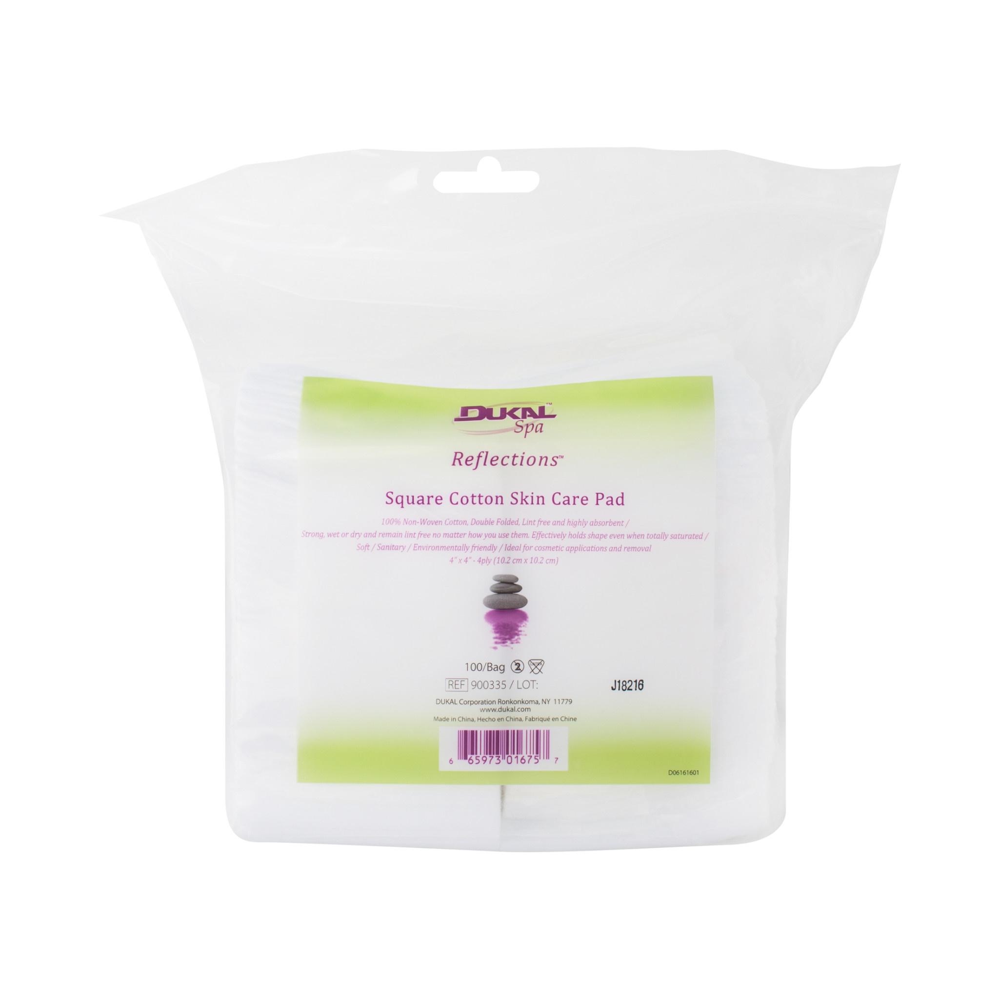 Square Cotton Skin Care Pad (100/Bag)