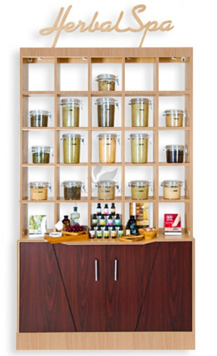 A.N.S Double Herbal Display Cabinet