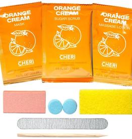 CHERI CHERI-7-IN-1 Pedicure Kit Orange Cream single