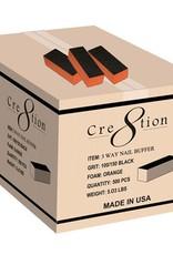 Cre8tion Buffer 3-Way Orange Foam 80/100 (500pcs)