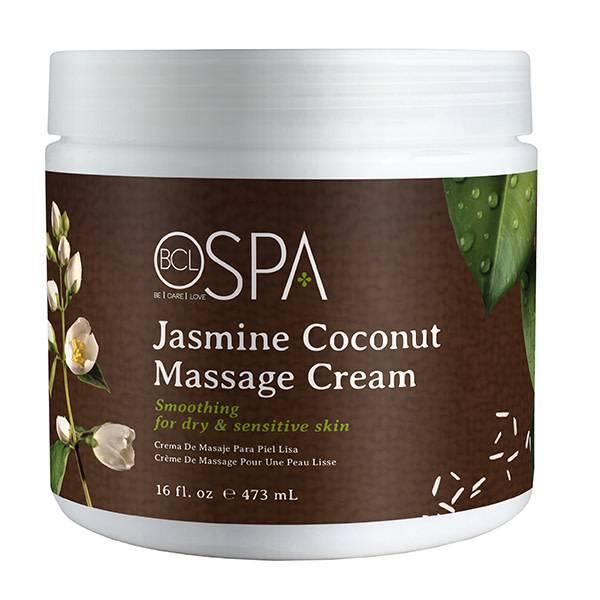 BCL Spa  16 oz Jasmine Coconut Massage Cream single